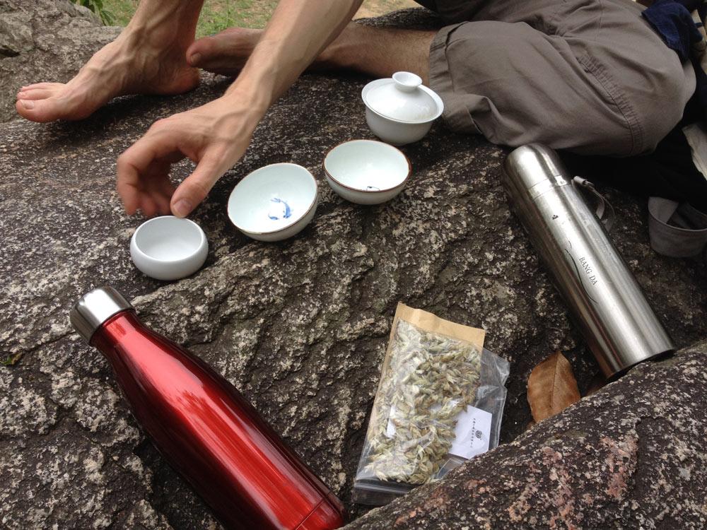 Čajování v přírodě