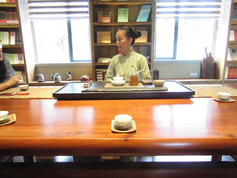Čajová seance ve výzkumném centru