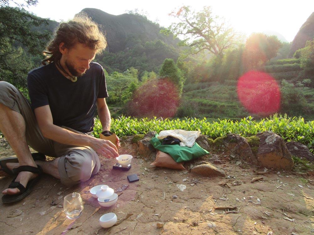 Čaj v přírodě má vždy něco do sebe - díky Tome za skvělé čajování i výlet:)